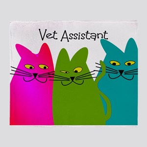 Vet Assistant whim cats Throw Blanket