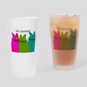 Vet Assistant whim cats Drinking Glass