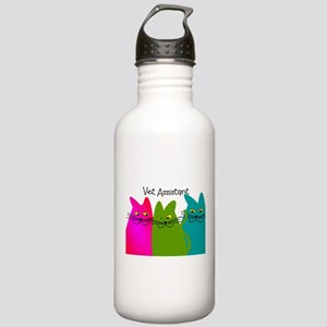 Vet Assistant whim cats Stainless Water Bottle