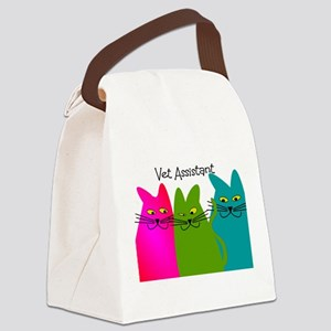 Vet Assistant whim cats Canvas Lunch Bag
