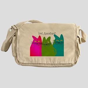 Vet Assistant whim cats Messenger Bag