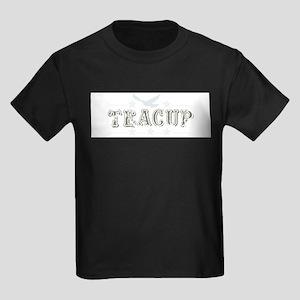 Vintage Teacup Design With Dove Kids Dark T-Shirt