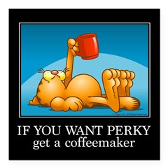 """IF YOU WANT PERKY... Square Car Magnet 3"""" x 3"""