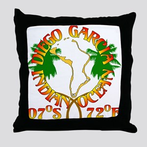 Diego Garcia Roundell Throw Pillow