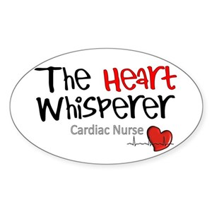 cardiac nurse stickers cafepress