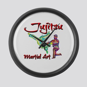 Jujitsu Large Wall Clock