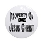 Property of Jesus Christ Ornament (Round)