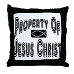 Property of Jesus Christ Throw Pillow