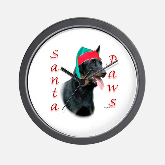 Beauceron Paws Wall Clock