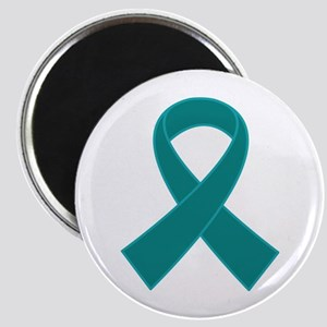 Teal Ribbon Awareness Magnet