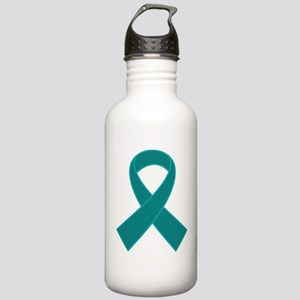 Teal Ribbon Awareness Stainless Water Bottle 1.0L