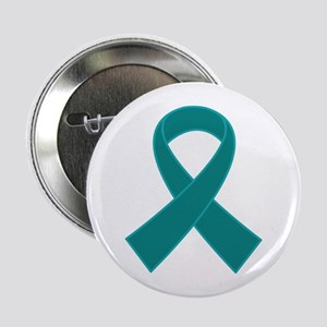 "Teal Ribbon Awareness 2.25"" Button"