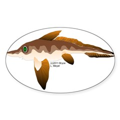 Longnosed Ratfish (Chimera) Sticker (Oval 50 pk)