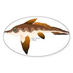 Longnosed Ratfish (Chimera) Sticker (Oval 10 pk)
