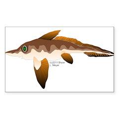 Longnosed Ratfish (Chimera) Sticker (Rectangle)