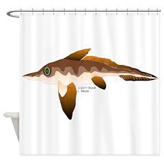 Longnosed Ratfish (Chimera) Shower Curtain