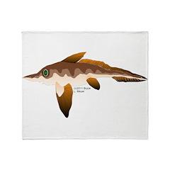 Longnosed Ratfish (Chimera) Throw Blanket