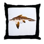Longnosed Ratfish (Chimera) Throw Pillow