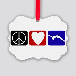 Peace Love Tumble Picture Ornament