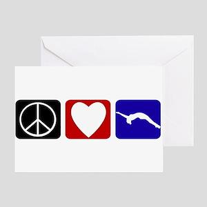 Peace Love Tumble Greeting Card