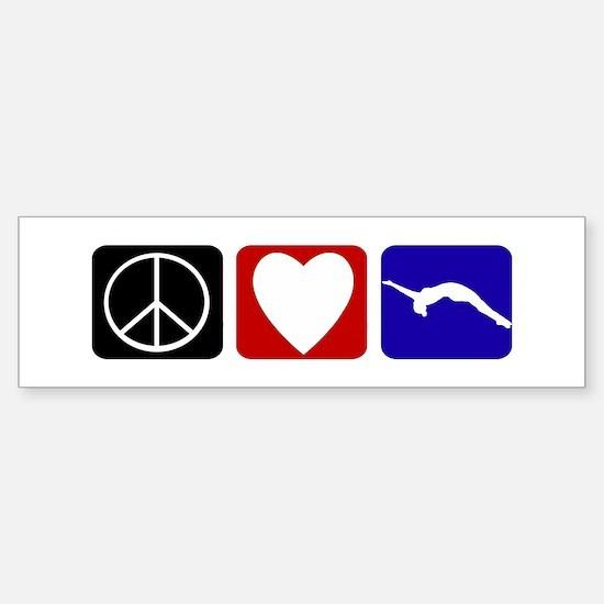 Peace Love Tumble Sticker (Bumper)