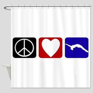 Peace Love Tumble Shower Curtain