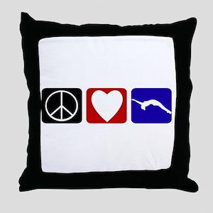 Peace Love Tumble Throw Pillow