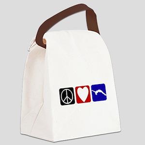 Peace Love Tumble Canvas Lunch Bag