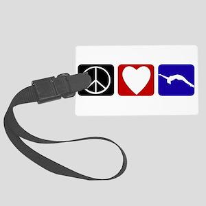 Peace Love Tumble Large Luggage Tag
