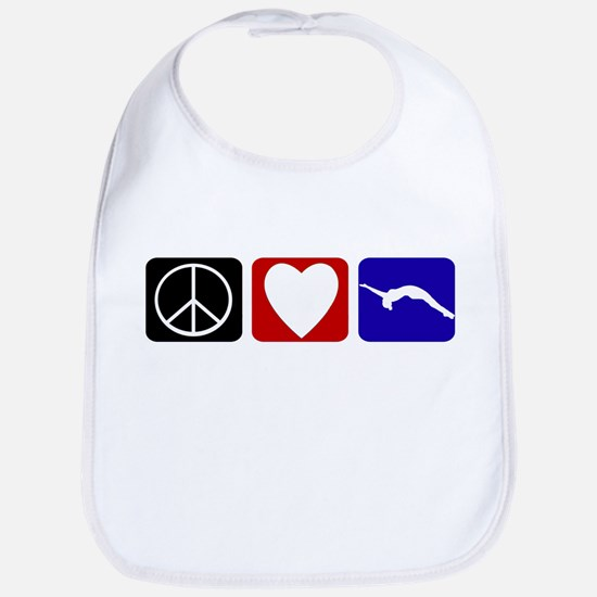 Peace Love Tumble Bib
