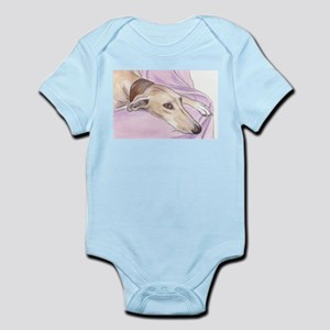 Lurcher on sofa Infant Bodysuit