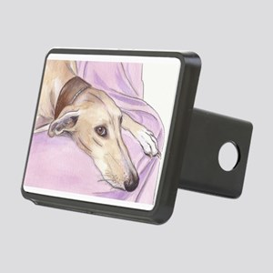 Lurcher on sofa Rectangular Hitch Cover