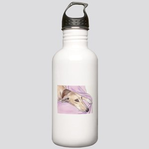 Lurcher on sofa Stainless Water Bottle 1.0L