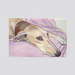 Lurcher on sofa Rectangle Magnet