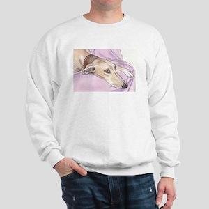 Lurcher on sofa Sweatshirt