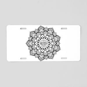 Resist Aluminum License Plate