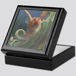 Vintage 1930s Mermaid Keepsake Box