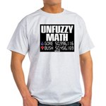 UNFUZZY MATH Ash Grey T-shirt