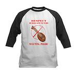 No Luting Please Kids Baseball Jersey