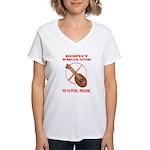 No Luting Please Women's V-Neck T-Shirt