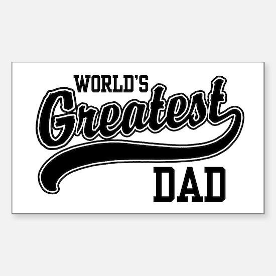 World's Greatest Dad Sticker (Rectangle)