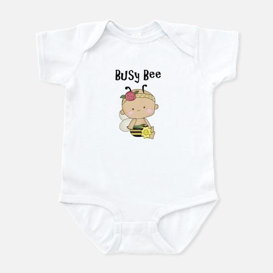 Girl's Busy Bee Baby Bodysuit