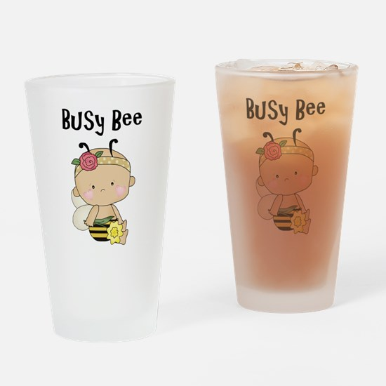 Baby Girl Busy Bee Drinking Glass