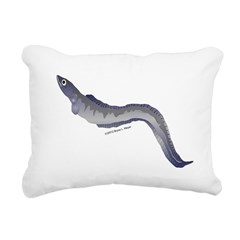 Conger Eel fish Rectangular Canvas Pillow