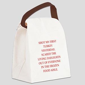 turkey shoot Canvas Lunch Bag