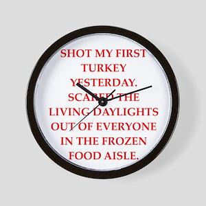 turkey shoot Wall Clock
