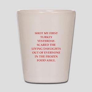 turkey shoot Shot Glass