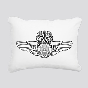 Air Force Master Aircrew Rectangular Canvas Pillow
