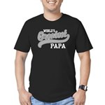 World's Greatest Papa Men's Fitted T-Shirt (dark)
