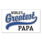 World's Greatest Papa Sticker (Rectangle)